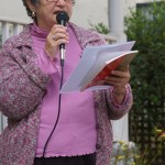 JoAnn Anglin reads on the open microphone