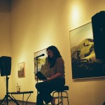 Virginia Robinson reads at the John Natsoulas Gallery on September 1st